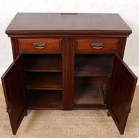 Dresser Base Walnut Edwardian Sideboard Cabinet (5 of 12)