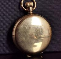 Art Deco Gold Plated Full Hunter Pocket Watch (2 of 11)