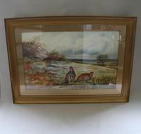 Pair of Gilt Framed Watercolour Paintings of Grouse (4 of 9)