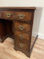 George III Gentleman's Kneehole Leather Top Mahogany Desk (8 of 12)