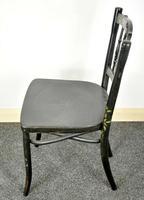 Bentwood Vintage Ebony / Black Floral Print Chair (6 of 9)