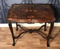 Quality Inlaid Walnut Occasional Table (10 of 18)