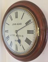 Eight Day Rare High Quality Lancs / Yorks Railway Clock (2 of 12)