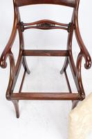 Pair of Regency Mahogany Open Armchairs / Carvers (6 of 13)