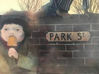 Original oil on board 'Park Street' by KB. Initialled and dated 11.56 (5 of 6)