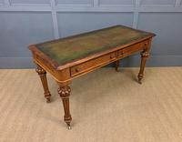 Very Good Victorian Burr Walnut Writing Table (8 of 16)