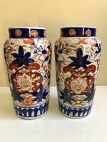 Stunning Pair Of Japanese Imari Vases, Meiji Period Antique (6 of 10)