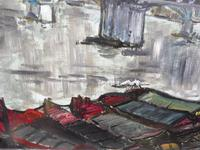 Large Oil on Board The Thames Listed Artist Sheila Appleton (10 of 12)
