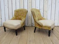 Pair of French Boudior Tub Armchairs for re-upholstery (8 of 8)