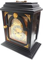 Interesting Quarter Striking German Bracket Clock by Junghans in Ebony Glazed Case (6 of 9)