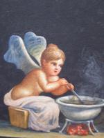 Watercolour Mischievous Putti Listed Artist E P Fenderico (11 of 14)