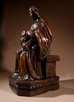 Charming Maria Lactans Sculpture Continental Early 18th Century (5 of 14)