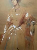 Frederick Cruickshank Fine Watercolour Portrait Painting of Lady (7 of 12)