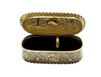 Antique Victorian Sterling Silver Ring Box 1895 (9 of 9)
