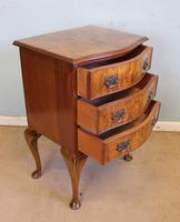 Small Burr Walnut Shaped Front Chest of Drawers (6 of 8)