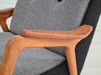 Danish Design, 60s, Completely Restored Armchair, Furniture Wool (8 of 16)