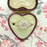 Vintage 18ct Platinum diamond cluster ring c.1960s (7 of 11)