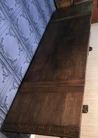 Large Oak Extending Dining Table (10 of 18)