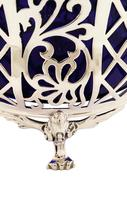 Antique Sterling Silver Pierced Basket with Liner 1926 (5 of 9)