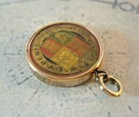 Victorian Pocket Watch Chain Royal Fob 1890s Antique 9ct Rose Gold Filled Fob (9 of 10)