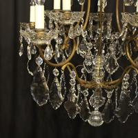 French Gilded Birdcage 11 Light Crystal Antique Chandelier (10 of 10)