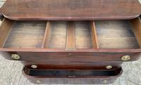 Regency Mahogany Bow Fronted Column Chest of Drawers (16 of 21)