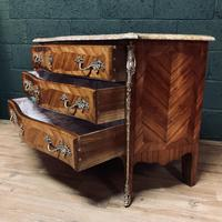 Beautiful French Louis XVI Style Tulip wood marble top commode (7 of 12)