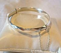 """Vintage Sterling Silver Bangle 1971 Silver Fancy Bracelet 7"""" Length 19.6 Grams (3 of 11)"""