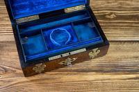 Burr Walnut & Brass Jewellery Box 1860 (8 of 14)