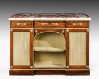 Regency Period Goncalo Alves Side Cabinet of Slightly Inverted Breakfront Form (2 of 8)