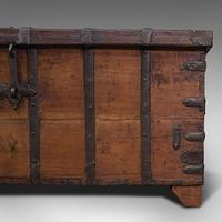 Antique Merchant's Chest, Oriental, Solid Teak, Trunk, William III c.1700 (11 of 12)