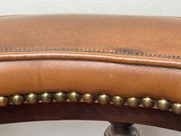 Charming Traditional Victorian Style Tan Brown Office Captains Bankers Chair (14 of 42)
