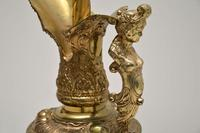 Large Antique Gilt Metal  Flagon  Lamp (6 of 11)