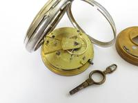 Antique Silver Fusee Pocket Watch, 1876 (4 of 6)