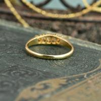 The Antique 1921 Old Cut Five Diamond Ring (6 of 8)