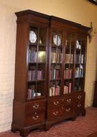 Four Doors Breakfront Bookcase In Mahogany - Early 19th Century (8 of 11)