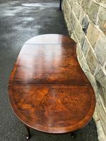 Antique Burr Walnut Drop Flap Side Table (6 of 9)