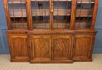 William IV Mahogany Breakfront Bookcase (10 of 15)