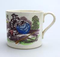 Staffordshire Pottery Child's Transferware Nursery Mug Mid 19th Century (2 of 5)