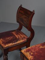 Rare Pair of Brass Inlaid Mahogany & Leather Library Chairs (9 of 19)