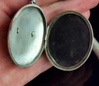 Victorian Silver Collar Necklace and Floral Locket (13 of 14)
