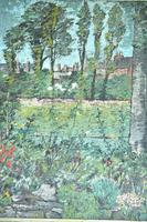 Early 20th Century British School A Town Garden Oil on Board (4 of 9)