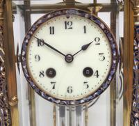 Awesome Antique French Champlevé Ormolu Bronze 8 Day Striking Mantel Clock c.1880 (6 of 13)