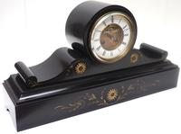 Amazing French Slate Mantel Clock Visible Escapement 8 Day Striking Mantle Clock (7 of 14)