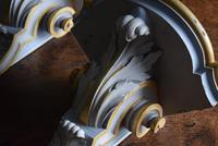 Late 19th Century Gilt and White Painted Corner Wall Brackets (6 of 10)