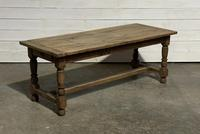Rustic French Oak 19th Century Farmhouse Kitchen Table (23 of 31)