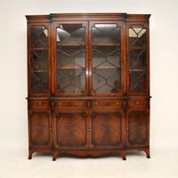 Antique Mahogany Breakfront  Bookcase (2 of 12)