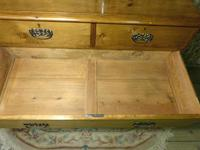 Lovely 2 Over 3 Victorian Stripped Pine Chest of Drawers with Fancy Pierced Metal Handles (9 of 9)