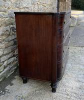 Regency Mahogany Bow Fronted Column Chest of Drawers (5 of 21)