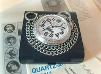 Vintage Pocket Watch 1970s Railroad 9ct White Gold Plated Swiss & West Germany Nos (2 of 12)